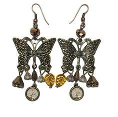 Pendientes mariposas El árbol de la vida de Klimt