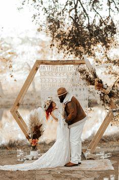 Hexagon Arch  P.C. T and V Photography Romantic Wedding Photos, Boho Wedding, Dream Wedding, Wedding Dreams, Wedding Themes, Wedding Venues, Wedding Ceremony, Eclectic Wedding, Estilo Boho