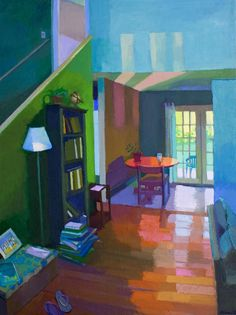 """Contemporary Painting - """"View of Back Porch"""" (Original Art from Jennifer O'Connell)"""
