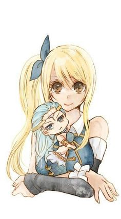Lucy and Chibi Aquarius♡