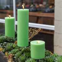 Green Pillar Candles - Our Green Pillar Candles are this lovely shade that will mix easily with other greens. Don't shy away from mixing colors within a color family. The look can be amazing and will delight guests! Pillar Candles, Color Mixing, Canning, Colors, Amazing, Green, Christmas, Decor, Candle