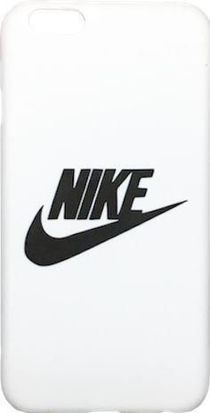"Nike White Black ""Swoosh Logo"" Hard Plastic iPhone 6/6s + Plus Case"