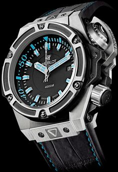 Hublot has been coming out with some amazing diving watches lately. At 4000 meter depth capability !!! The Oceanographic 4000 is one of the best diving watches ever produced !! No need for any deeper / the diver wouldn't survive any deeper in this extreme depth as submarine needed if deeper depths required thereafter !!! ✔️