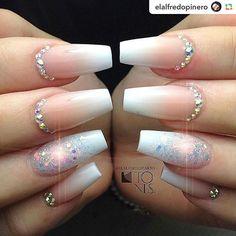 by @elalfredopinero:#elalfredopinero #nails #nailart #nail #nailstagram #nailswag #nailpolish #nailsoftheday #makeup #moda #tenerife #spain  facebook.com/elalfredopinero instagram.com/elalfredopinero . . #colorgel #nailsdesign #nails #clothes #food #mattenails #nails2inspire #nailartist #bridalnails#weddingnails#أظافر #nails#wedding#pink#swarovski#nudenails#nailsmagazine