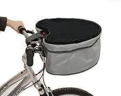 Petego Pet Dog Carrier-Basket with Bike Connection, One Size, Gray -- Click on the image for additional details.