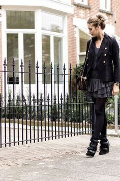 Outfit black balmain blazer, mango dress, pochette metis bag from Louis Vuitton and Isabel Marant boots