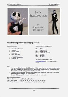 Jack Skellington crochet pattern 16 inch ready by SquarepigCrochet