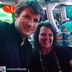 @Regrann from @momontheside -  When Nathan Fillion grabs your phone for a selfie, you smile. 😍 #Cars3Event #Cars3 #Castle #castleabc - #regrann