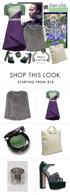 """""""What's Your Chic"""" by carola-corana ❤ liked on Polyvore featuring Meteo by Yves Salomon, Gina and Gucci"""