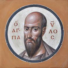 Byzantine Art, Byzantine Icons, San Paul, Paul The Apostle, Orthodox Christianity, Art Icon, Orthodox Icons, Folk Art, Saints