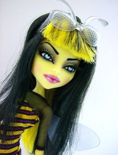 Angelina Jol-Bee- Ooak Monster High Insect Repaint | Flickr - Photo Sharing!
