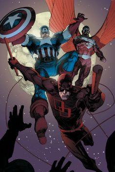 Captain America, Falcon and Daredevil