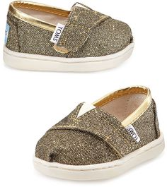 Toms Glimmer Classic Slip-On, Gold, Tiny on shopstyle.com