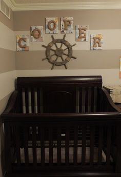 Baby boy nautical nursery