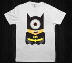 Batman Minion Parody for men and women t shirt cotton by innsidee, $18.00 Batman Minion, Minions, Kids Fashion Boy, Men's Fashion, Minion Party, Mini Stuff, Tough Girl, Quote Posters, Modest Outfits
