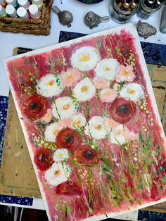 Love Painting, Art Paintings, Make You Smile, Invitations, Make It Yourself, Artwork, Flowers, Work Of Art, Painted Canvas