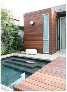 Trendy backyard ideas on a budget patio plunge pool Ideas - All For Garden Budget Patio, Backyard Patio, Backyard Landscaping, Backyard Ideas, Patio Ideas, Landscaping Design, Outdoor Pool, Mini Piscina, Small Pool Design