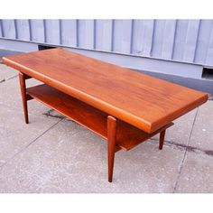 Find it at the Foundary - Danish Modern Floating Top Teak Coffee Table