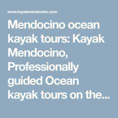 Mendocino ocean kayak tours: Kayak Mendocino, Professionally guided Ocean kayak tours on the Mendocino Coast