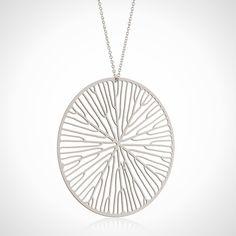 3D printed pendant designed by Nervoussystem #3dPrintedJewelry