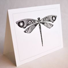 Dragonfly Dreams blank note card by valleykatdesigns on Etsy, $4.00