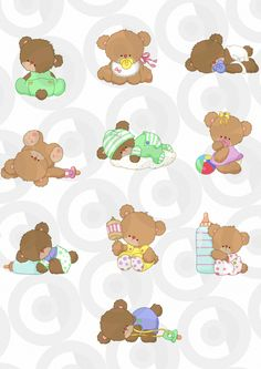 This website was created as the central resource point on the Net for Embroiderers designers who are looking for original and fresh designs to digitize and sell. Bear Cartoon, Cute Cartoon, Baby Painting, Baby Clip Art, Printable Crafts, Paper Tags, Baby Scrapbook, Felt Dolls, Animal Drawings