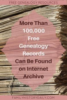 How to Use Internet Archive for Genealogy Research Access Free Genealogy Records at Internet Archive. Use these free genealogy resources to uncover new details about your family tree. Free Genealogy Records, Free Genealogy Sites, Genealogy Forms, Genealogy Chart, Genealogy Research, Family Genealogy, Genealogy Humor, Family Tree Research, Genealogy Organization