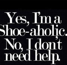 Shopaholic #shoes #fashion #quote