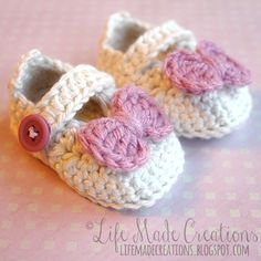 Life Made Creations: crochet : baby booties