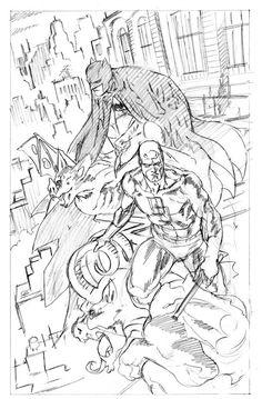 Chris Samnee: Batman & Daredevil: pencils & inks