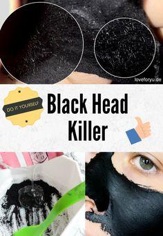 Blackheads? Ganz einfach entfernen mit einer Blackhead Maske bzw. Blackhead Killer zum selber machen und das OHNE Kleber. Hier findet ihr das Rezept dazu.
