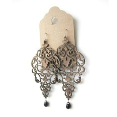 Bronze Leather Chandelier Earrings by UtiqueJewellery on Etsy, $30.00 African Jewelry, Leather Earrings, Chandelier Earrings, Belly Button Rings, Bronze, Trending Outfits, Unique Jewelry, Bracelets, Handmade Gifts