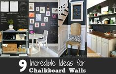 9 Ideas For Chalkboard Painted Walls - Celebrations at Home