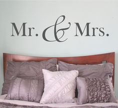 Hey, I found this really awesome Etsy listing at https://www.etsy.com/listing/183254320/mr-and-mrs-wall-decal-mr-and-mrs-mr-mrs
