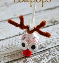 ❤ Egyszerű rénszarvas Rudolf nyalóka - mikulás ajándék ❤Mindy - kreatív ötletek és dekorációk minden napra