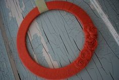 Another DIY Wreath- this time with just yarn