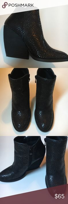 Faux alligator booties Worn once. In new condition very volatile  Shoes Ankle Boots & Booties