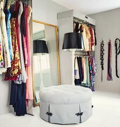 closet room. Maybe remove closet in guest room and make it ALL closet!