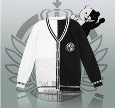 Danganronpa Dangan Ronpa Mono Kuma Black White Bear Cosplay Sweaters | eBay