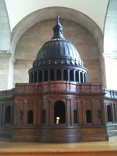 Wren's Great Model of St Paul's Cathedral, carved from wood, 1673-74, set in The Trophy Room