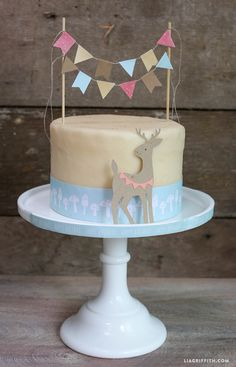 Woodland party cake topper. www.LiaGriffith.com
