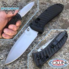 Benchmade - Mini Presidio II CF-Elite - Satin Plain - 575-1 - knife Benchmade Knives, Tactical Knives, Military Knives, Outdoor Knife, Folding Knives, Mini, Satin, Storage, Collection