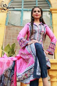 Libas Crinkle Lawn Vol-1 Spring Collection 2014 by Shariq Textiles  Textiles Libas 2...