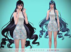 Jennisims: Downloads sims 4: Newsea SteamMist Hair retexture