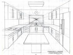 perspective drawing - Drawing Tips Drawing Tips One Point Perspective Room, Perspective Drawing Lessons, Perspective Sketch, Interior Architecture Drawing, Drawing Interior, Interior Design Sketches, Studio Interior, Classical Architecture, Cafe Interior