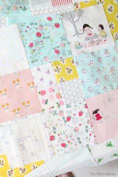 Serendipity quilt. Girl quilt. Scrappy patchwork quilt. Serendipity fabrics by Zeriano Minki Kim.