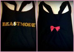 Beastmode Racerback Workout Tank Top by RufflesWithLove on Etsy, $20.00 i am in love with these shirts