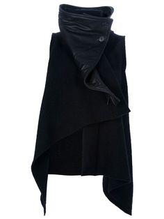 db8cb117bb78 Ann Demeulemeester | Black Sibil Asymmetric Jacket | Lyst Winter Fashion,  Dark Fashion, Minimalist