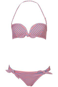 topshop stripe bandeau bikini