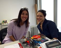 Visitors today: Marcella and Tania. Summer courses are fast approaching- yikes!